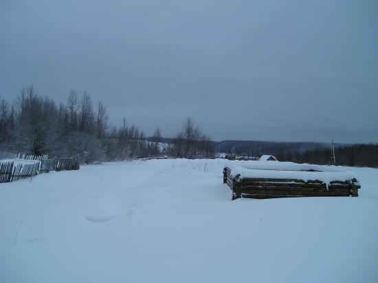 Если Вы живете на севере, на окраине деревушки, то это возможный Ваш вид из окна