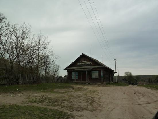 """еще один вид из """"машины времени"""" - старый деревенский магазин"""
