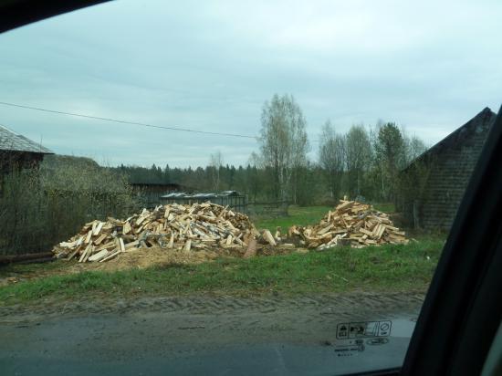 """дрова - это """"деревенский газ"""", ими печь топят и еду готовят"""