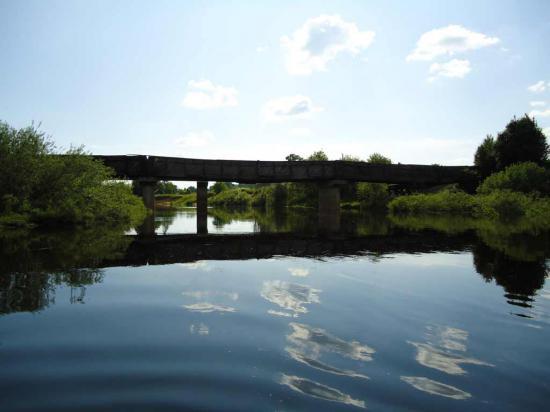 мы подошли к мосту в Огибном. Конечный путь нашего сплава.