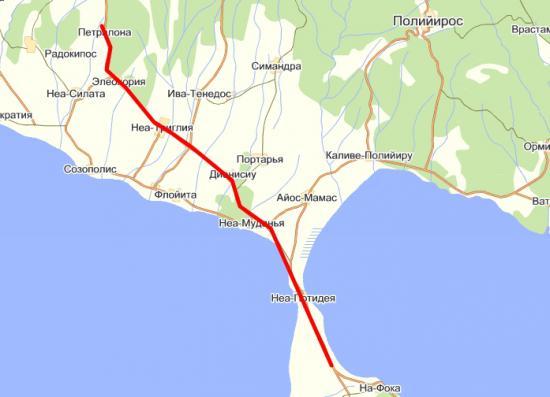Дорога в Петролана
