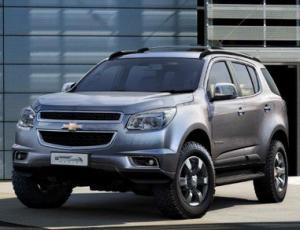 Российская презентация нового кроссовера Chevrolet Trailblazer. Выставочный автомобиль  в автосалоне «Луидор-Авто»