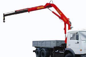 Назначение и преимущества грузовиков, оснащенных КМУ
