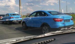 Рассекречена Lada Vesta Cross в голубом
