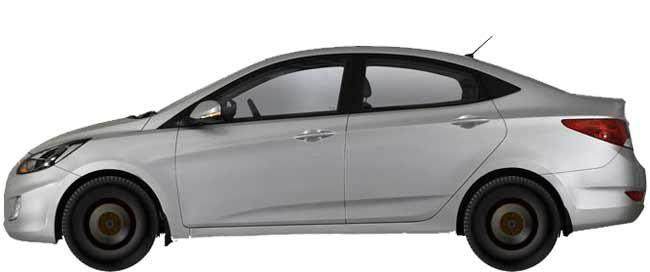 Диски на Hyundai Solaris 1.4 | Примерка дисков ...