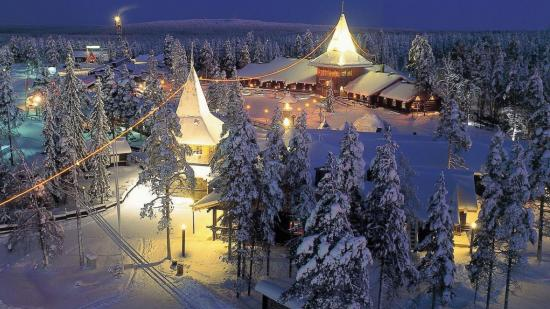 Резиденция Финского Санта-Клауса Йоулупукки (фин. Joulupukki)